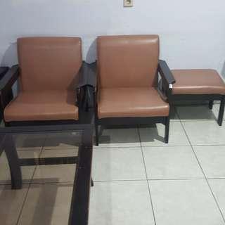 1 set kursi ruang tamu + gratis meja