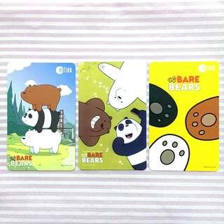 SET of Bare bears Ezlink Card
