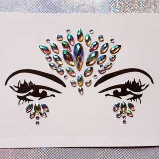 Mermaid Face Diamond Stickers