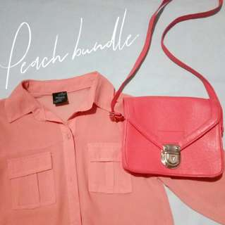 Peach bundle set for 200php