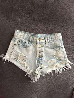 Milano Acid washed super high waisted Shorts