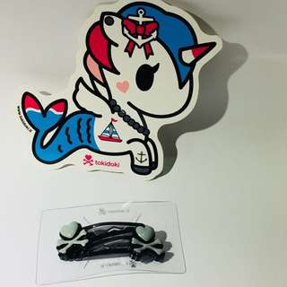 Tokidoki hair pin unicorn sticker