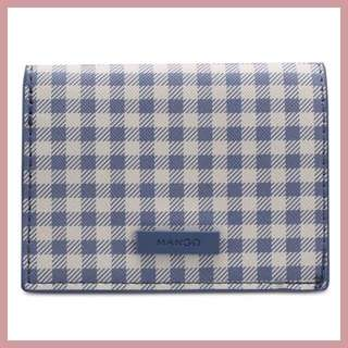 Mango Gingham Check Wallet