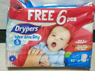 Drypers Wee Wee Dry S, open balance pack