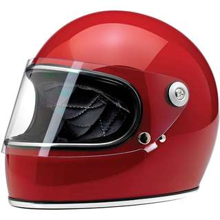 Biltwell Gringo S SIZE X-LARGE XL ONLY Motorcycle Motorbike Cafe Racer Classic Full Face Helmet Gloss Blood Red