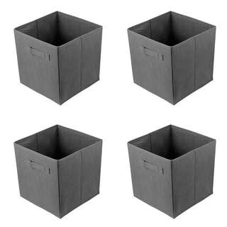 Black Non-woven Foldable Storage Cube