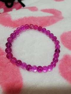 Purple stone bracelet - free size