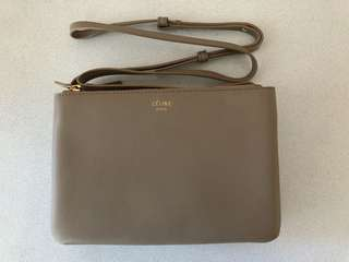 Celine Small Trio Bag - Nude/Taupe