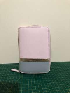 Kikki K Personal Medium Zip Planner Pink Leather With Inserts