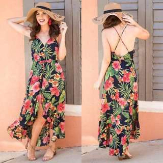 💕 Floral Long back Dress 💕