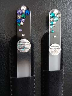 Mont Bleu Swarovski Crystal Glass Nail File with Velvet Pouch + FREE Normal Mail