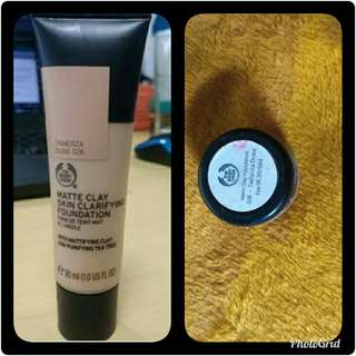 share in jar the body shop matte clay skin