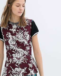 Zara Woman sleeveless floral printed top