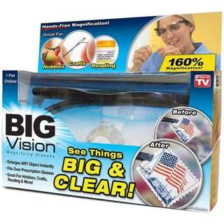 Big Vision Hands Free Magnifying Reading Glasses