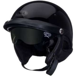Bell Pit Boss SIZE SMALL MEDIUM LARGE X-LARGE XX-LARGE XL XXL Open Face Motorcycle Motorbike Cruiser Harley Davidson Helmet Solid Gloss Black