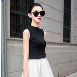 PO korean ulzzang sleeveless knitted top