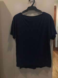 Dark blue basic shirt