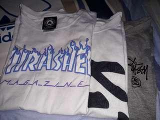 Thrasher stussy KID 短袖T恤 (買一送一☄)