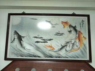 Chinese painting - fish 鯉魚