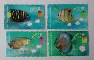 觀賞魚郵票(穿窿特別設計)