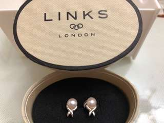Links of London Pearl Twist Silver Earrings 珍珠純銀耳環