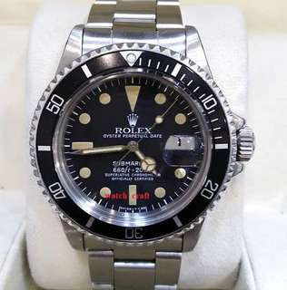 Used Vintage Rolex 1680 Submariner Mark 1 Dial Auto S/S 40mm