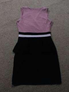 Atasan dress pink black