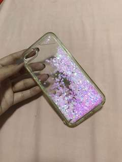 Clear case with pink hearts for ip7