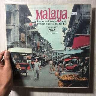 P Ramlee Saloma Malaya Original Capitol Vinyl Record Rare !