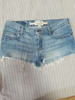 A&F distressed sexy shorts