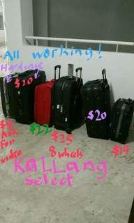 Kallang Cheap Large big small luggage bag suitcase fabric & 2 hardcase