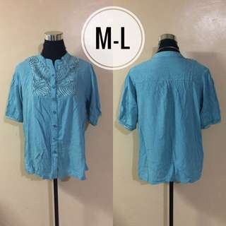 Fashion Polo Blouse