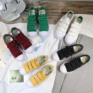 🚚 綠色魔鬼氈帆布鞋