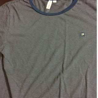 Penshoppe stripes blue and gray size S