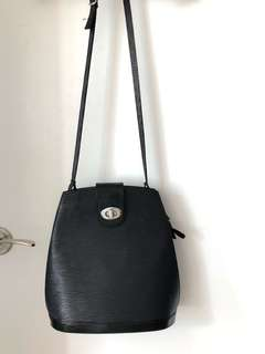 Louis Vuitton Inspired Black Epi-Leather Crossbody