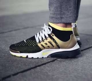 Nike Air Presto Ultra Flyknit Black Yellow Gold