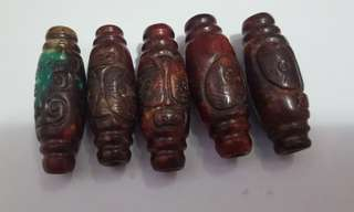 紅山文化玉珠,出土文物,每粒49.2mm,每粒$350。