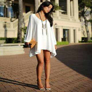 🚚 [INSTOCK] White Chiffon Dress