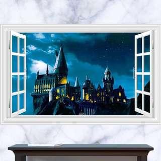3D 1.8Mx1.2M Harry Potter banner 立體Hogwarts哈利波特霍格華茲構額banner