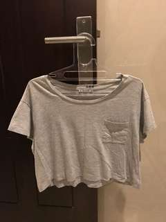Basic Grey Crop Top