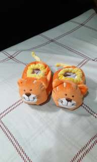 BABY SHOE SOCK! Tiger design!