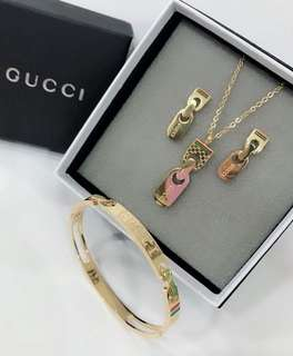 Gucci necklace and bangle set