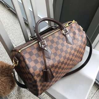 Authentic Louis Vuitton Speedy Bandouliere Damier 30