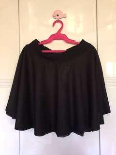 Preloved Black Skater Skirt