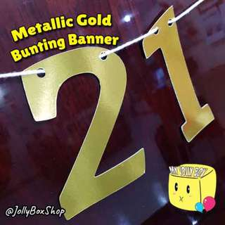 Customizable Bunting Banner For Sale - Metallic Gold Theme
