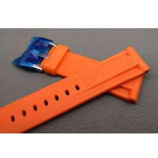 24mm錶帶 膠帶 (OAD防粘毛) 代用品 PANERAI (ref:2422PAN膠帶橙)