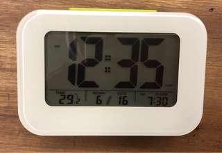 Cheery lime green digital alarm clock