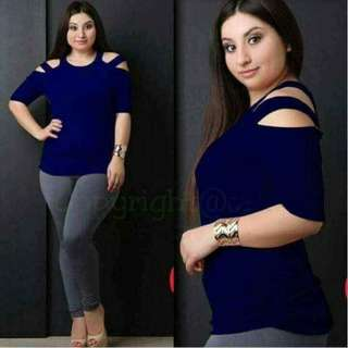 Plus Size Coldshoulder Blouse - COD