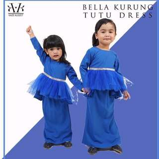 [PRELOVED]BELLA KURUNG TUTU DRESS in ROYAL BLUE(S)