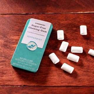 (Starbucks) Sugar Free Chewing Gum Peppermint 22.7G